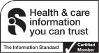 The Information Standard: Health & care information you can trust: Certified Member logo